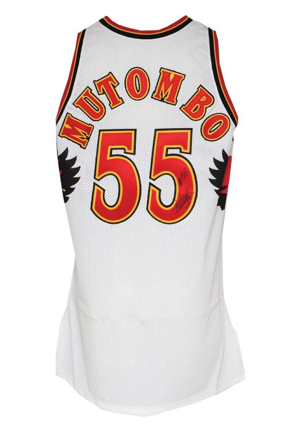 Lot Detail - 1996-97 Dikembe Mutombo Atlanta Hawks Game-Used ... 571196166