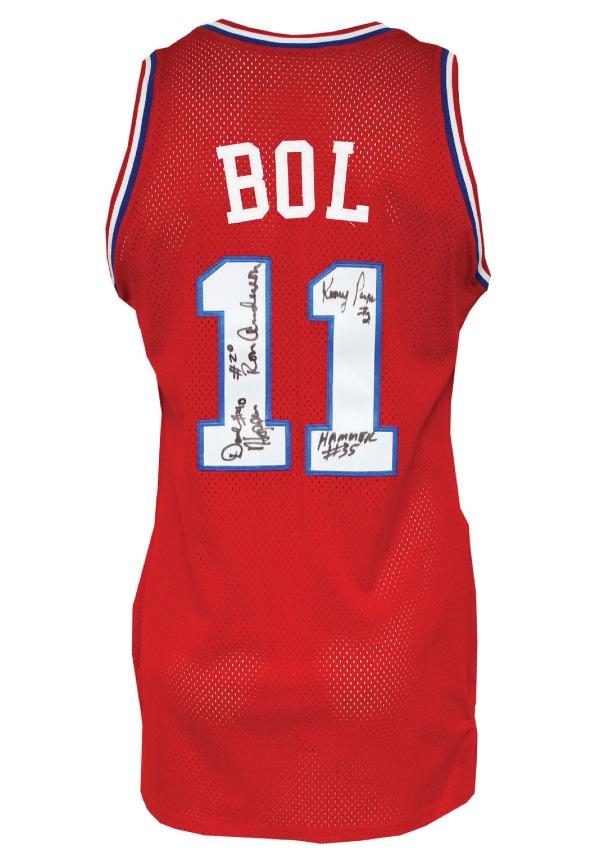 8d9dc7eb750 Lot Detail - 1990-91 Manute Bol Philadelphia 76ers Game-Used & Team ...