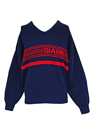 san francisco d0f30 49fd1 Lot Detail - Late 1980s New York Giants Sweater Attributed ...