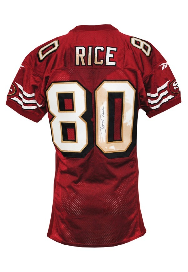 1300231f Lot Detail - 1998 Jerry Rice San Francisco 49ers Game-Used ...