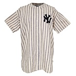 1940 Johnny Murphy New York Yankees Game-Used Flannel Pinstripe Jersey