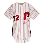 1974 Steve Carlton Philadelphia Phillies Game-Used & Autographed Home Jersey (JSA)
