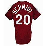 "5/19/1979 Mike Schmidt Philadelphia Phillies Game-Used & Autographed ""Saturday Night"" Burgundy Alternate Uniform (2)(JSA • Extremely Rare One Game Style)"