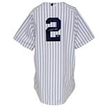 4/19/2012 Derek Jeter New York Yankees Game-Used & Autographed Home Jersey (Photomatch • Steiner LOA • Full JSA • 3,110th Career Hit Tying Dave Winfield)