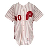 1973 Dick Ruthven Philadelphia Phillies Game-Used Home Jersey