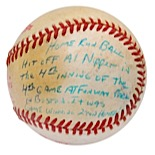 "1986 ""Miracle Mets"" Gary Carter World Series Game 4 Game-Used & Personally Inscribed Home Run Baseball (JSA • Carter Family LOA • Game-Winning HR)"