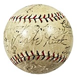 1920s Hall of Famers Multi-Signed Baseball with Ruth, Cobb & Johnson (JSA)