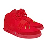 "Original Nike Air Yeezy 2 ""Red October"" Sneakers Autographed by Kanye West (Full JSA)"