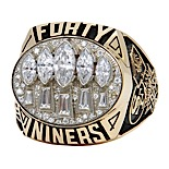 1994 San Francisco 49ers Super Bowl XXIX Championship Ring with Presentation Box & SB29 Ticket Stub (2)(Family LOA)