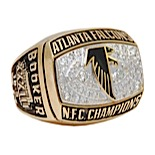 1998 Michael Booker Atlanta Falcons NFC Championship Players Ring