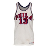 1961-62 Wilt Chamberlain Philadelphia Warriors Game-Used Home Durene Uniform (2)(Exceedingly Rare • 100-Point Single Game Performance Season • Fantastic Example)