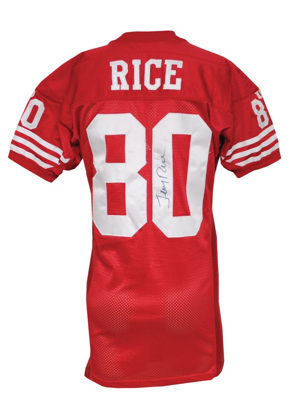 newest 2bba1 7360b Lot Detail - 1994 Jerry Rice San Francisco 49ers Game-Used ...
