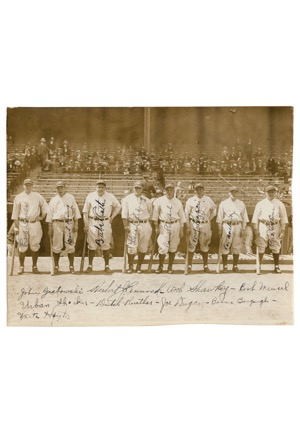 "1927 New York Yankees ""Murderers Row"" Team-Signed Photo with Ruth & Gehrig (Full JSA • Championship Season)"