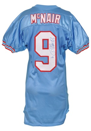 premium selection f9623 9e2ed Lot Detail - Mid 1990s Steve McNair Houston Oilers Rookie ...