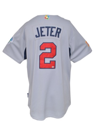 3/8/2009 Derek Jeter Team USA World Baseball Classic Game-Used Road Jersey (MLB Hologram • Photomatch)