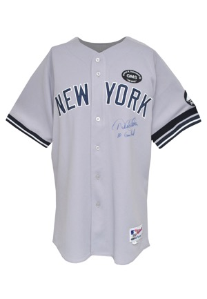 8/01/2010 Derek Jeter New York Yankees Game-Used & Autographed Road Jersey (JSA • Steiner LOA • MLB Hologram • Steinbrenner & Sheppard Patches • Houk Armband • Photomatch)