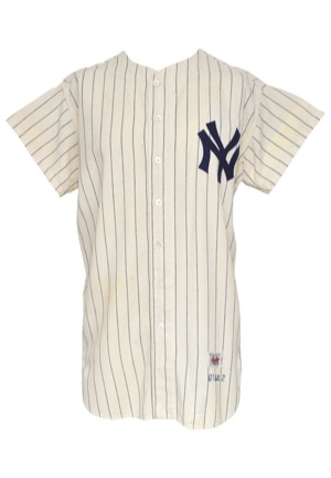 1961 Bob Hale New York Yankees Game-Used Home Flannel Jersey (Championship Season • Rare)