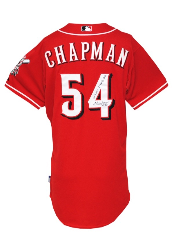 factory authentic 0e485 cfaf4 Lot Detail - 5/13/2012 Aroldis Chapman Cincinnati Reds Game ...