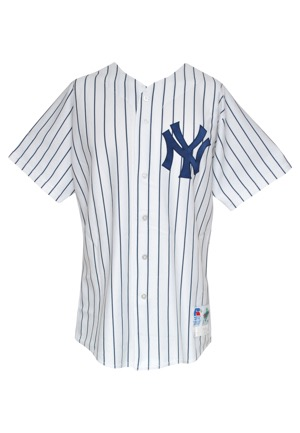 1997 Kenny Rogers New York Yankees Game-Used Home Jersey (Yankees-Steiner LOA)