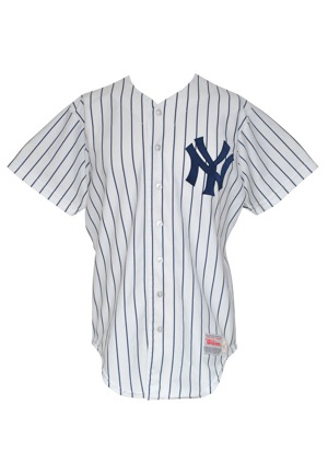 1987 Dan Pasqua New York Yankees Game-Used Home Jersey
