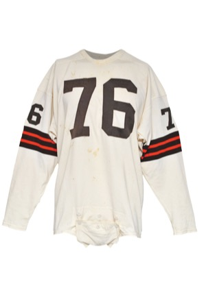 "12/10/1961 Lou ""The Toe"" Groza Cleveland Browns Record Breaking Game-Used Road Jersey (Photomatch • NFL Record 826 Total Points Scored • Family LOA • Hobby Fresh)"