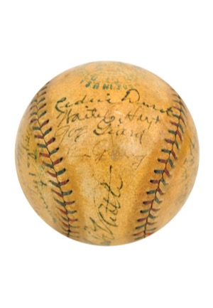 "1927 New York Yankees ""Murderers Row"" Team-Signed Official American League Baseball (Full JSA • Championship Season • Halper/Sothebys Collection)"