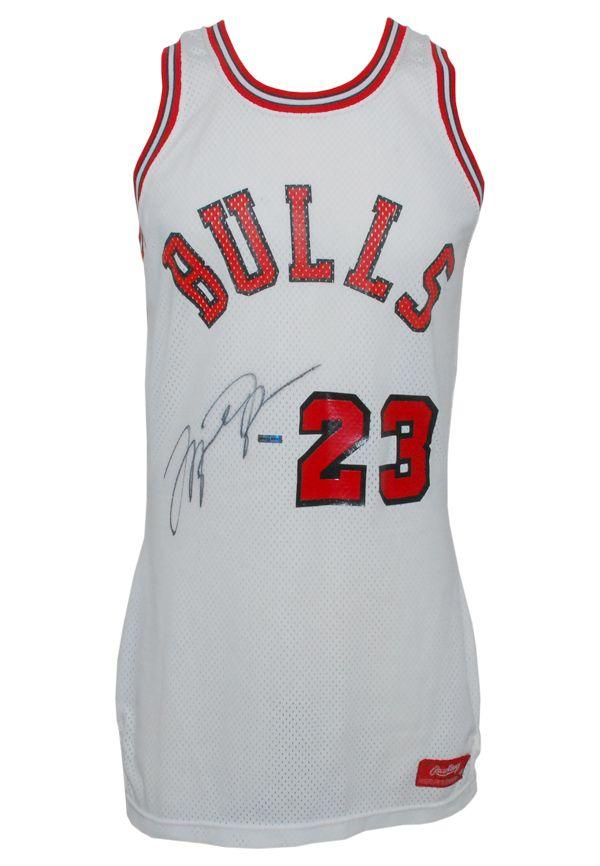 wholesale dealer 3e5a6 af06f Lot Detail - 1984-85 Michael Jordan Rookie Chicago Bulls ...