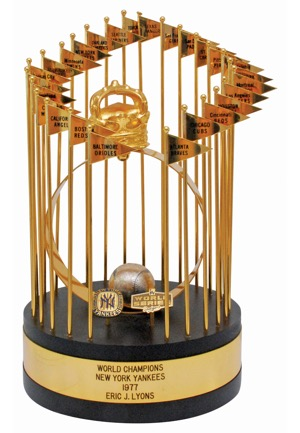 1977 New York Yankees World Series Championship Trophy (MINT)