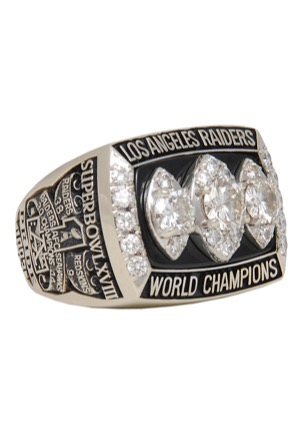 1983 Tony Caldwell Los Angeles Raiders Super Bowl XVIII Championship Players Ring