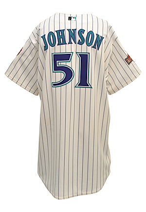 7/13/2004 Randy Johnson Arizona Diamondbacks MLB All-Star Game-Used Home Jersey (MLB Authenticated • Photo-Matched)