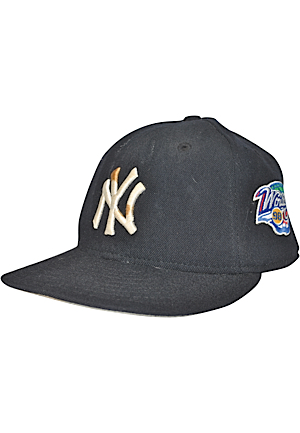 1998 New York Yankees Game-Used Cap Attributed To Scott Brosius With World Series Patch