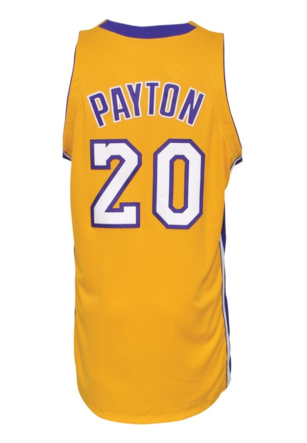35ca46a377f Lot Detail - 2003-04 Gary Payton Los Angeles Lakers Game-Used Home ...