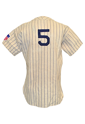 Early 1940s Joe DiMaggio New York Yankees Game-Used Home Pinstripe Flannel Jersey (Possibly Worn In 41—The 56-Game Hitting Streak, MVP & World Championship Season)