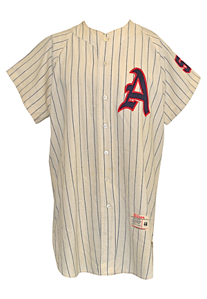 1961 No. 56 Kansas City Athletics Game-Issued Home Flannel Jersey (Rare One Year Style)
