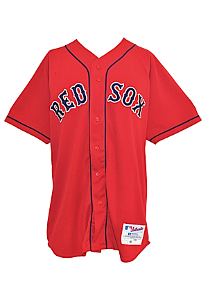 2004 David Ortiz Boston Red Sox Game-Used & Autographed Alternate Red Jersey (JSA • PSA/DNA • Championship Season)