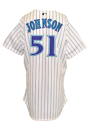 2001 Randy Johnson Arizona Diamondbacks Game-Used Home Jersey (Championship Season • Co-World Series MVP • Cy Young Award)