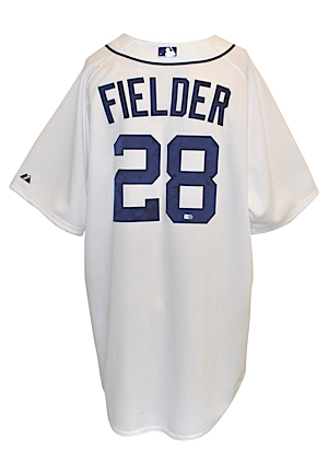 9/4/2012 Prince Fielder Detroit Tigers Game-Used Home Jersey (MLB Hologram • Unwashed • AL Pennant)