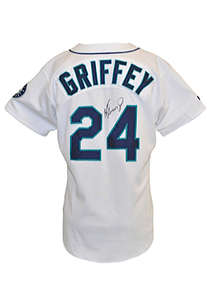 1998 Ken Griffey Jr. Seattle Mariners Game-Used & Autographed Home Jersey (JSA • Griffey LOA • AL HR Leader • Silver Slugger • Gold Glove)