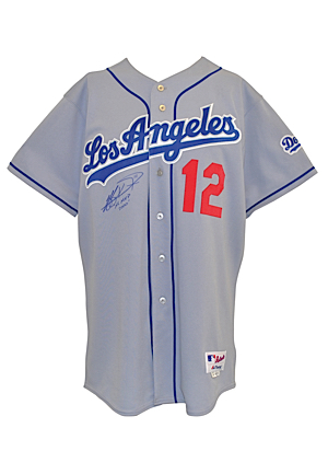 2005 Jeff Kent Los Angeles Dodgers Game-Used & Autographed Road Jersey (JSA • Silver Slugger Season)