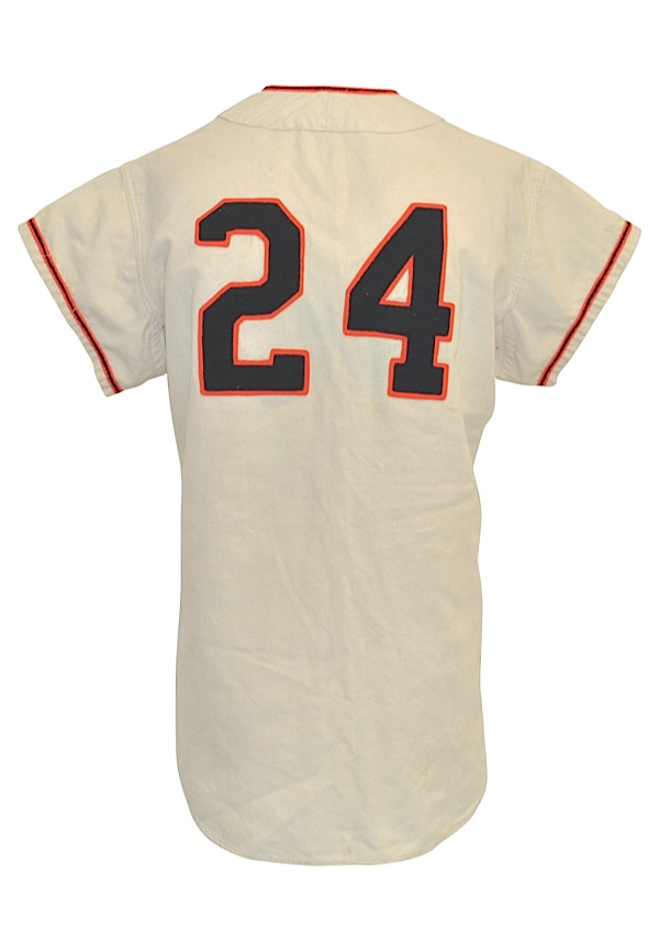 9ff99b9d0 Lot Detail - 1957 Willie Mays New York Giants Game-Used Home Flannel ...