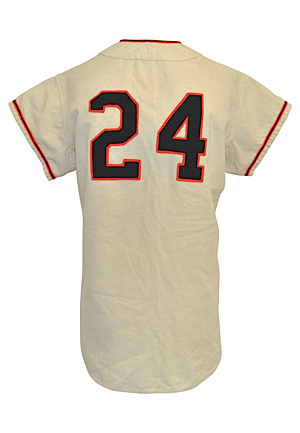 1957 Willie Mays New York Giants Game-Used Home Flannel Jersey (Fantastic All-Original Condition • Final Season In NY • Single Owner Provenance Directly Sourced From The Team In The 50s • Hobby...