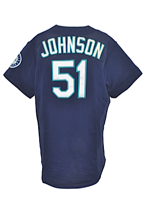 1998 Randy Johnson Seattle Mariners Game-Used Blue Alternate Jersey