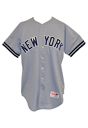1987 Lou Piniella New York Yankees Managers-Worn Road Jersey (Yankees Steiner LOA)