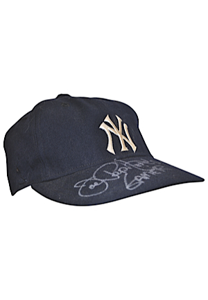 Circa 1967 New York Yankees Game-Used & Autographed Cap Attributed To Joe Pepitone (JSA)