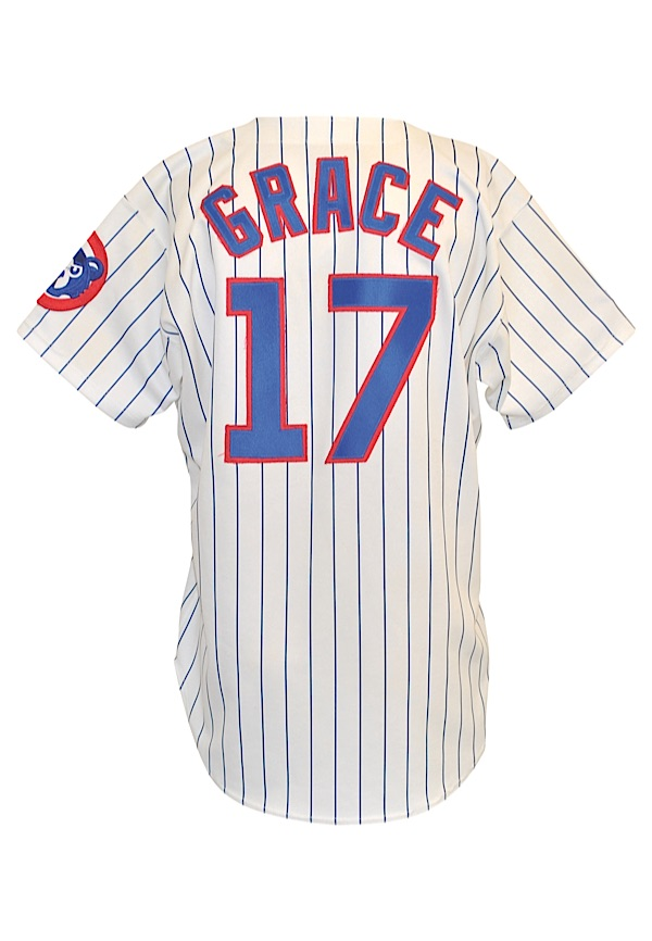 Lot Detail - 1995 Mark Grace Chicago Cubs Game-Used Home Pinstripe ...