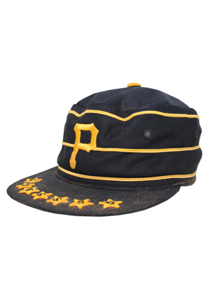 Pittsburgh Pirates Game-Used & Autographed Pill Box Cap Attributed to Willie Stargell (JSA • 7x Stargell Stars)