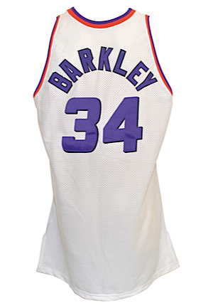 1993-94 Charles Barkley Phoenix Suns Game-Used Home Jersey