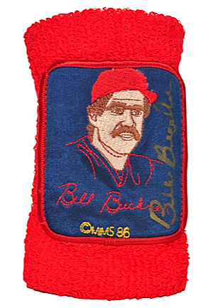 "1986 Bill Buckner Boston Red Sox Game-Used & Autographed ""Say No to Drugs"" Wristband & 2004 World Series Boston Red Sox vs. St. Louis Cardinals Game 4 Ticket with Lanyard (2)(JSA)"