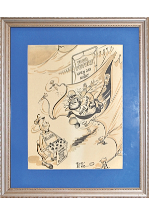 Framed 1948-49 Saint Louis University vs. Notre Dame Original Program Cover Artwork (NIT Championship Season)