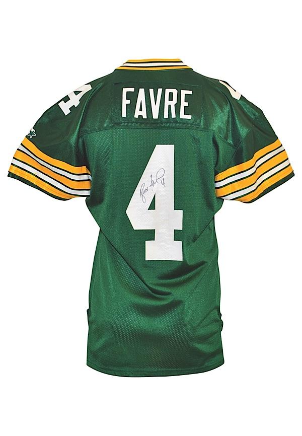 e6e531993ed Lot Detail - 1993 Brett Favre Green Bay Packers Game-Used & Twice ...